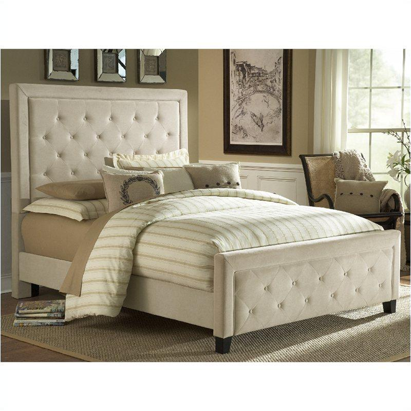 1566-576 hillsdale furniture queen fabric bed set - buckwheat