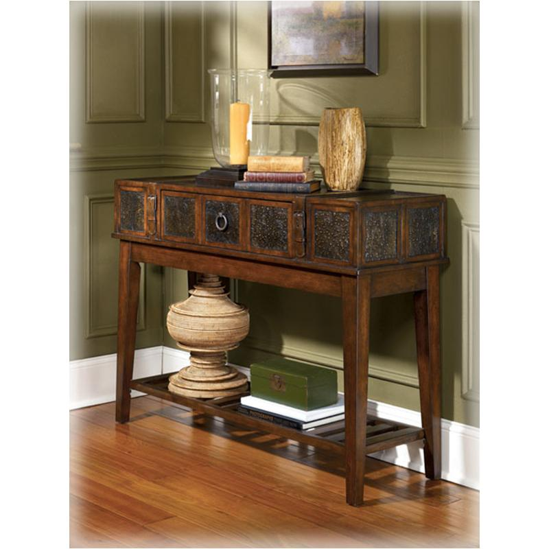 T753 4 Ashley Furniture Mckenna Dark Brown Sofa Table