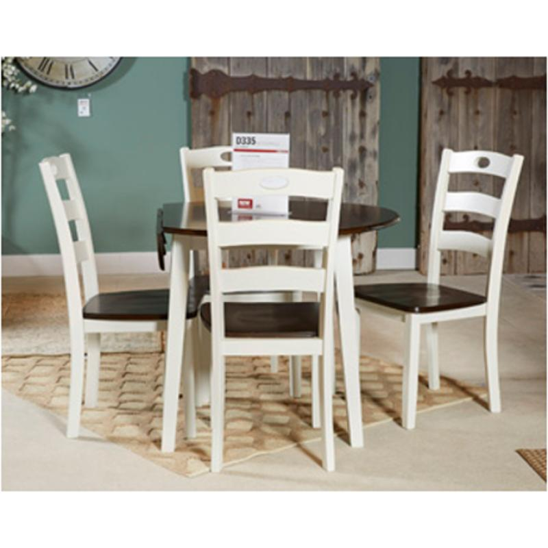 D335 15 Ashley Furniture Woodanville Round Drop Leaf Table