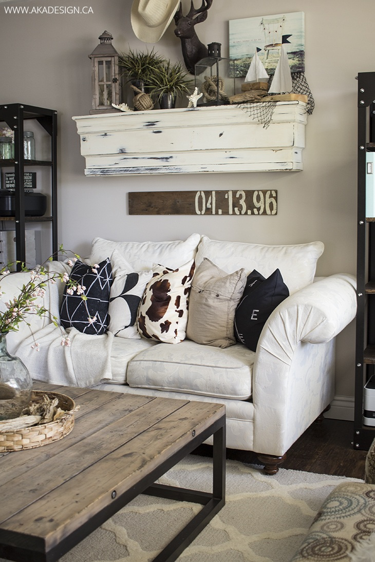 27 Rustic Farmhouse Living Room Decor Ideas for Your Home ... on Decorative Wall Sconces For Living Room Ideas id=44914