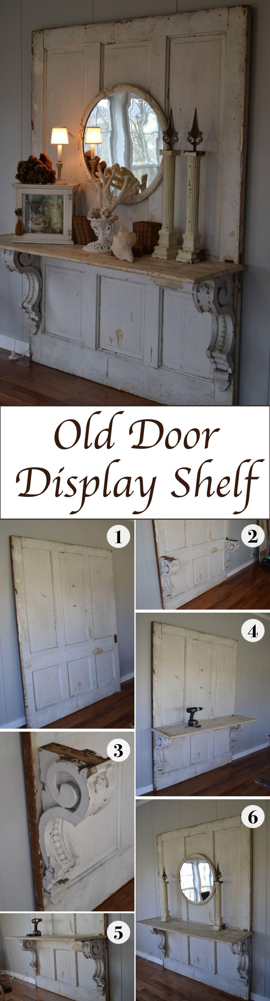 Old Door  Display Shelf