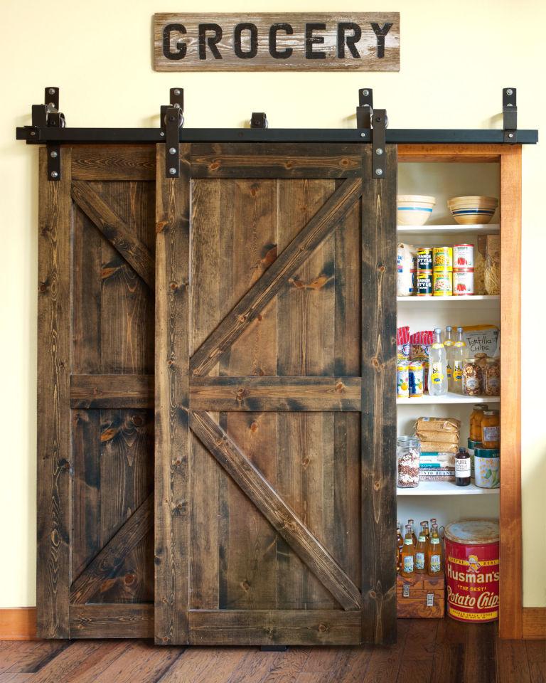 dreamy deadwood style pantry barn door upgrade