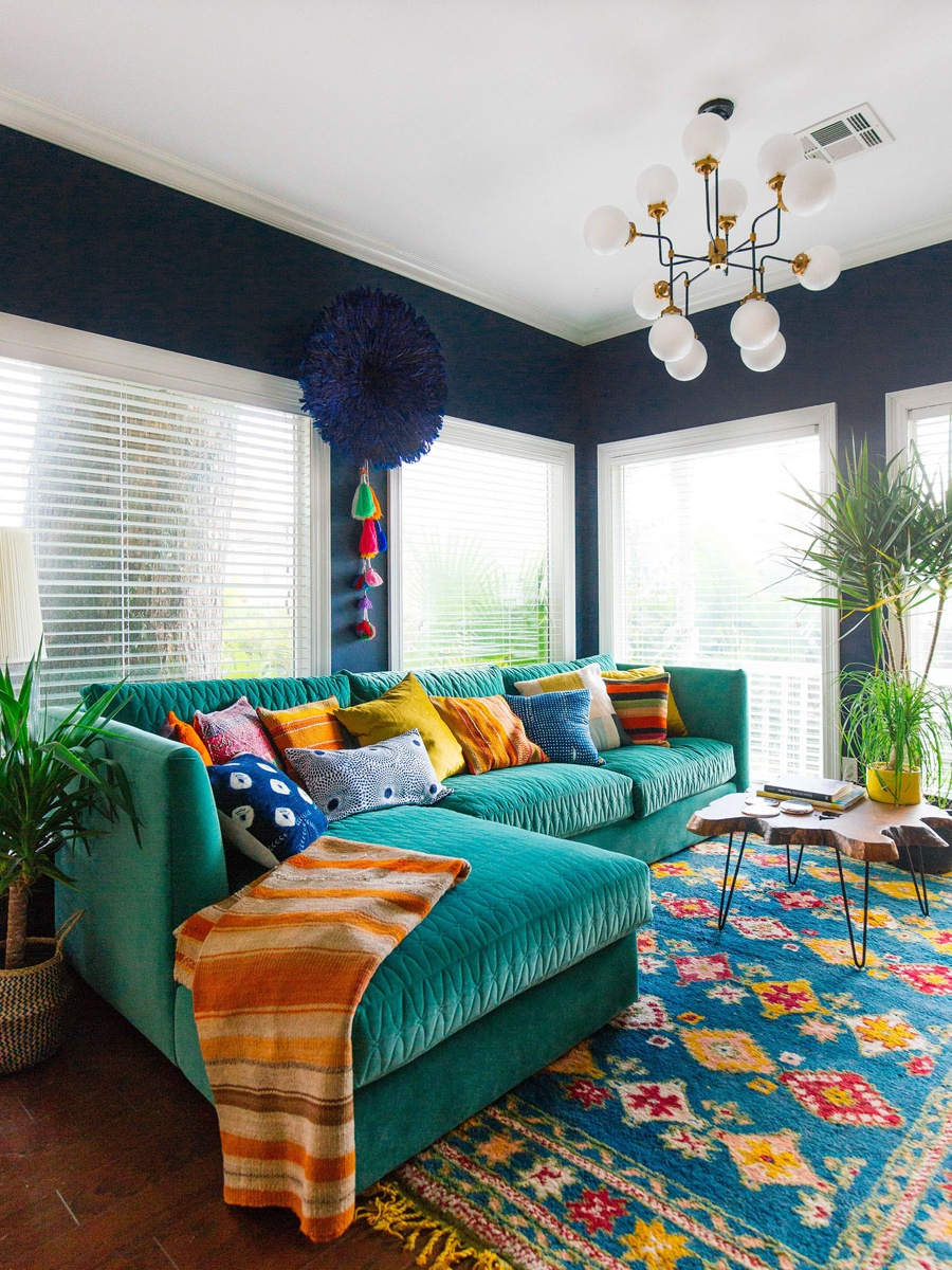 23 Colorful Sofas to Break the Monotony in Your Living ... on Colourful Living Room  id=96935