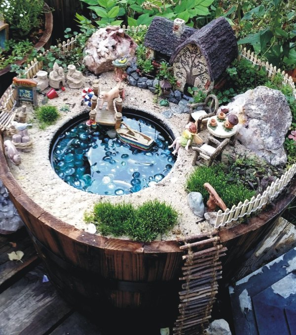 A Lakeside Cottage Fairy Garden