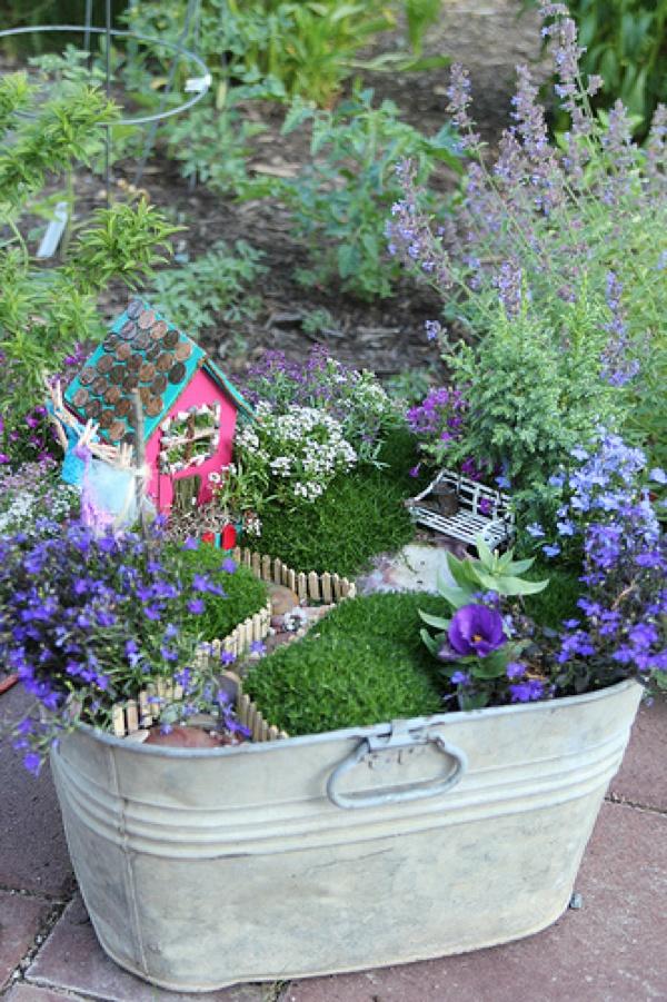 Fairy Garden in a Bucket