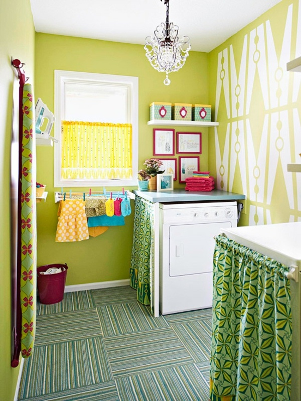 19 fabulous ideas how to add color to your laundry room on paint for laundry room floor ideas images id=19793