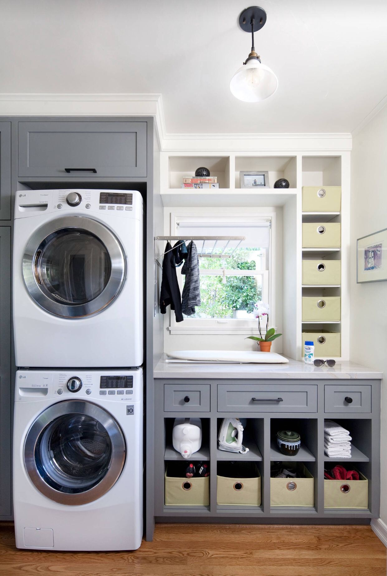 50 Beautiful and Functional Laundry Room Ideas   Homelovr on Small Laundry Room Cabinets  id=46030