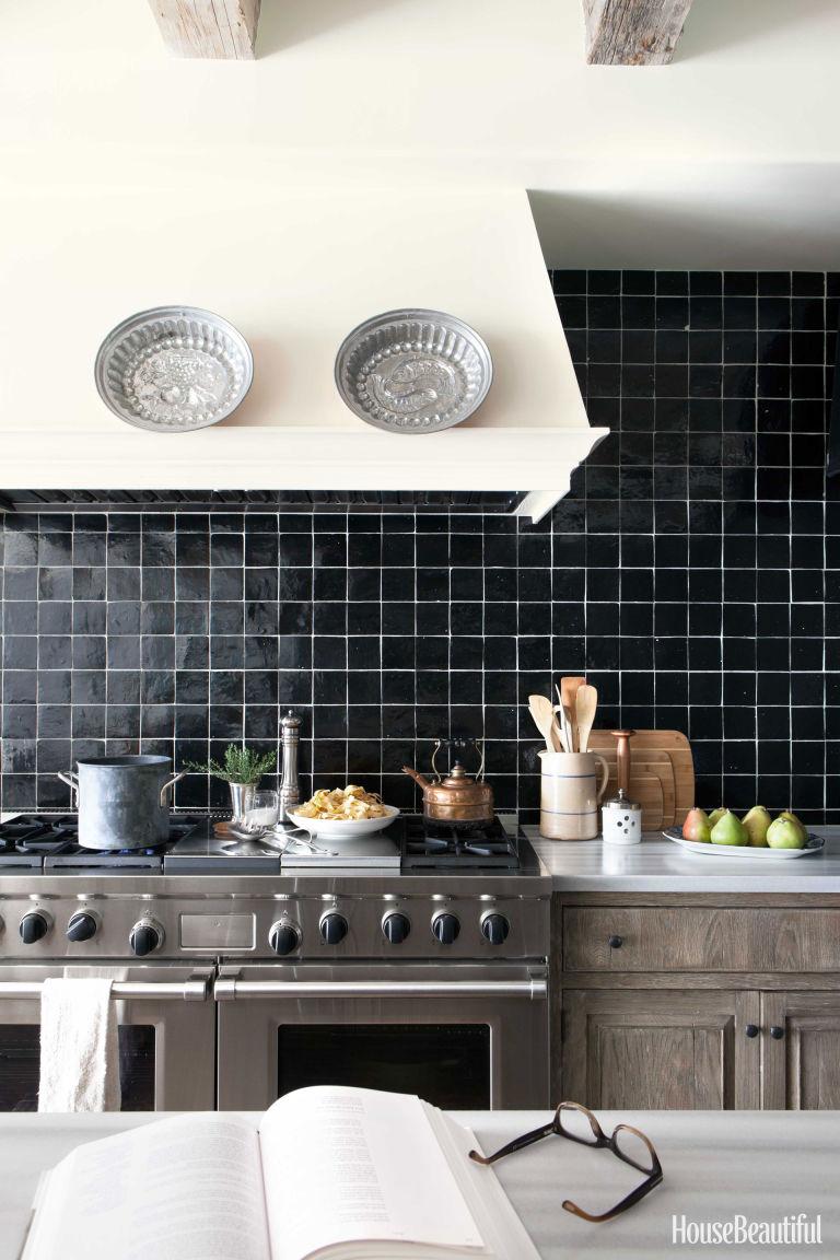 20 Kitchen Backsplash Ideas That Totally Steal the Show ... on Backsplash Ideas For Dark Cabinets  id=76093