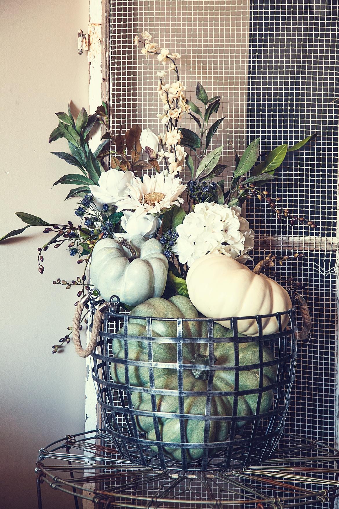 Pumpkin Floral Creation