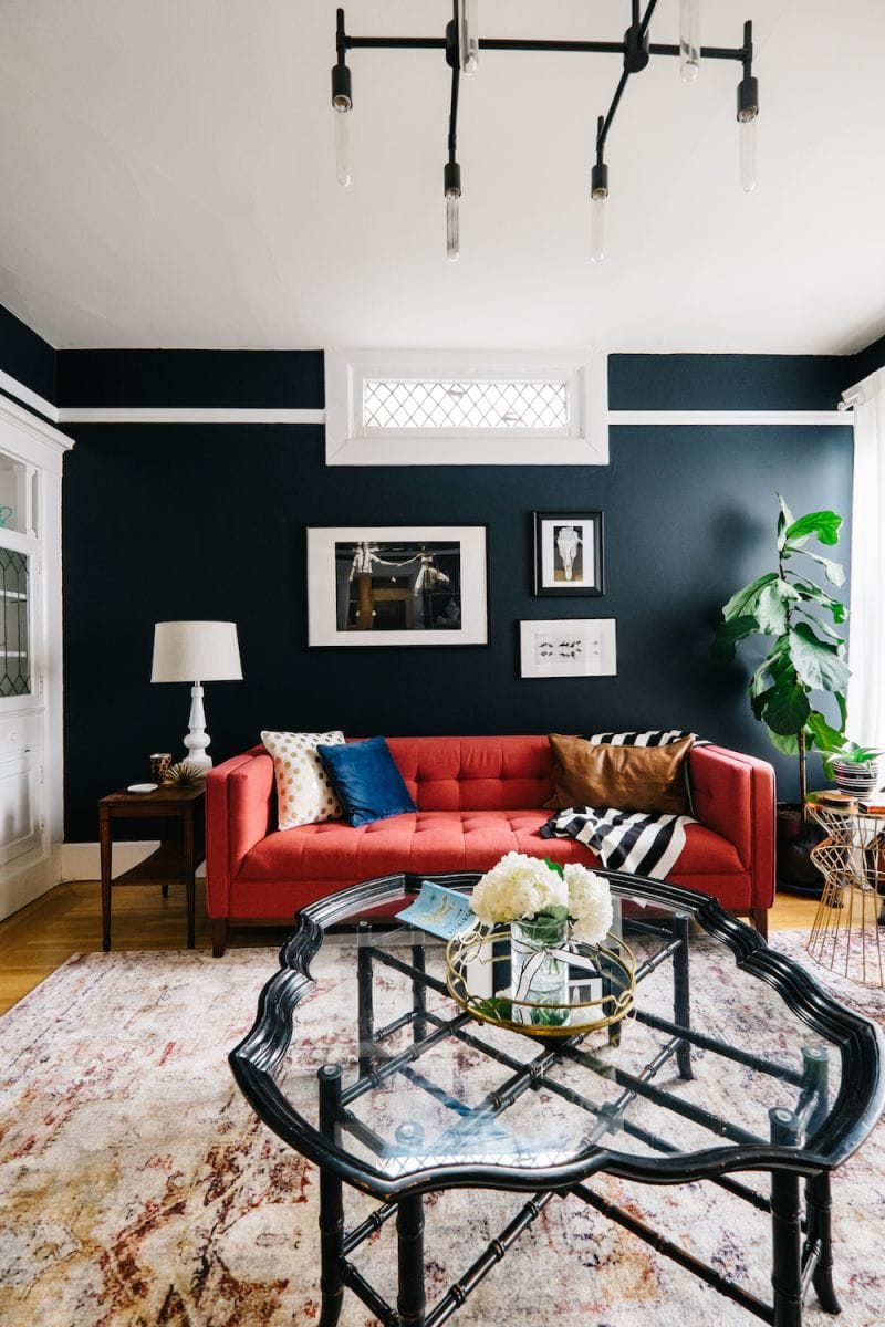 Get inspiration on how to use this striking, gorgeous color in your living spaces. Black Accent Wall Ideas To Make A Bold Statement in Any ...
