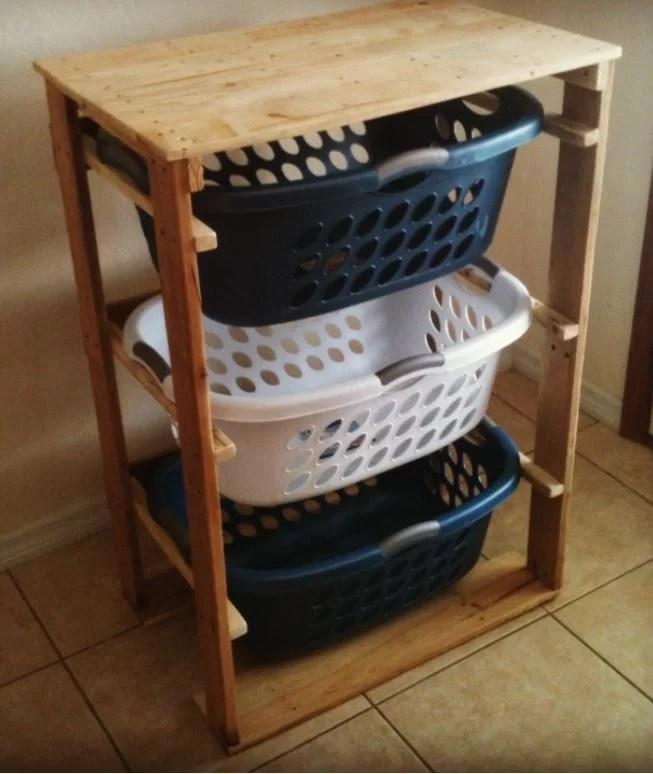7. Laundry Basket Dresser