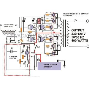 How to Build a 400 Watt High Power Inverter with Built in