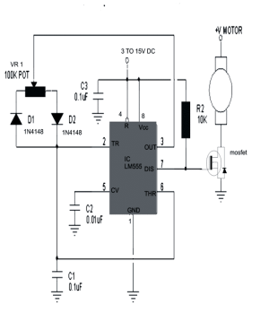 Simple DC Motor Speed Controller Circuit