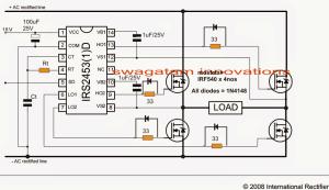 Simplest Full Bridge Inverter Circuit
