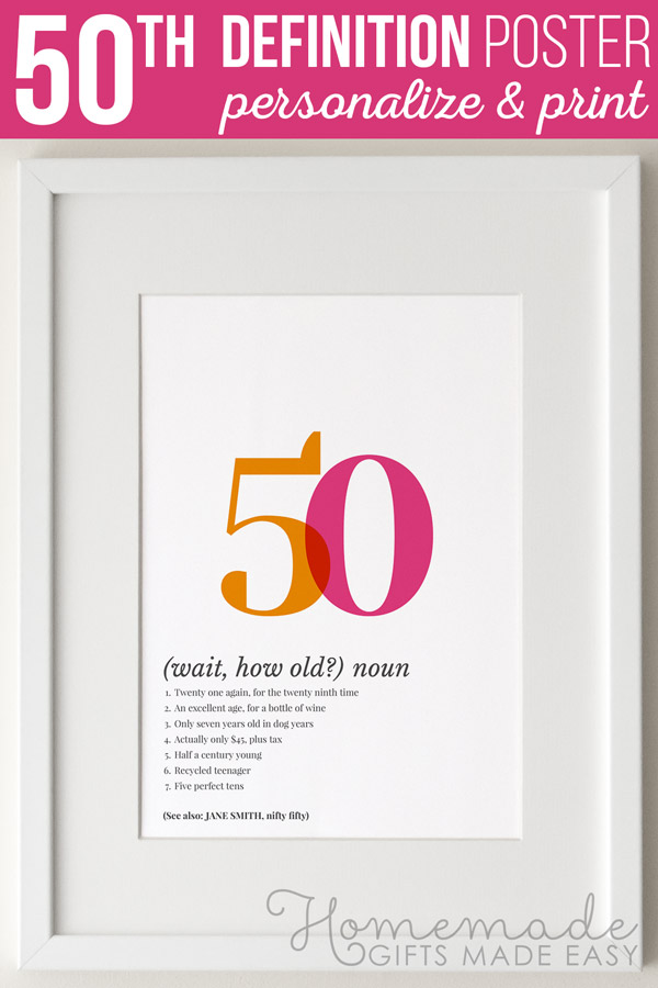 Definition Of 50 Personalized Poster