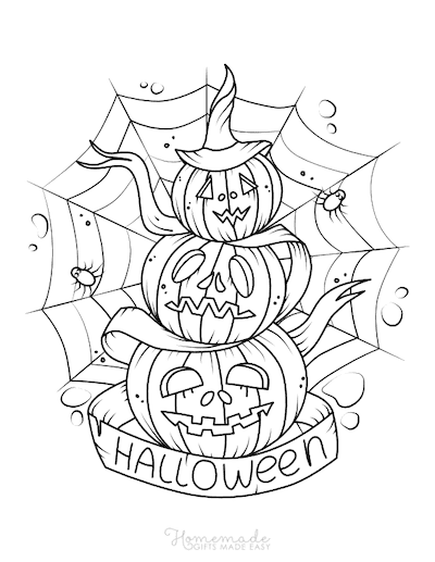 75 Halloween Coloring Pages Free Printables