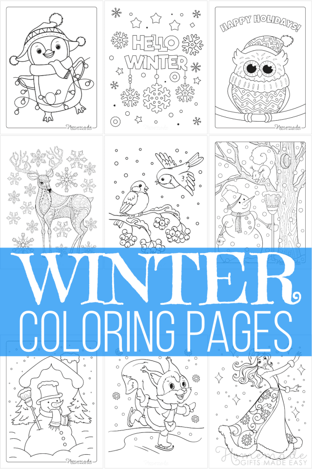23 Best Winter Coloring Pages  Free Printable Downloads