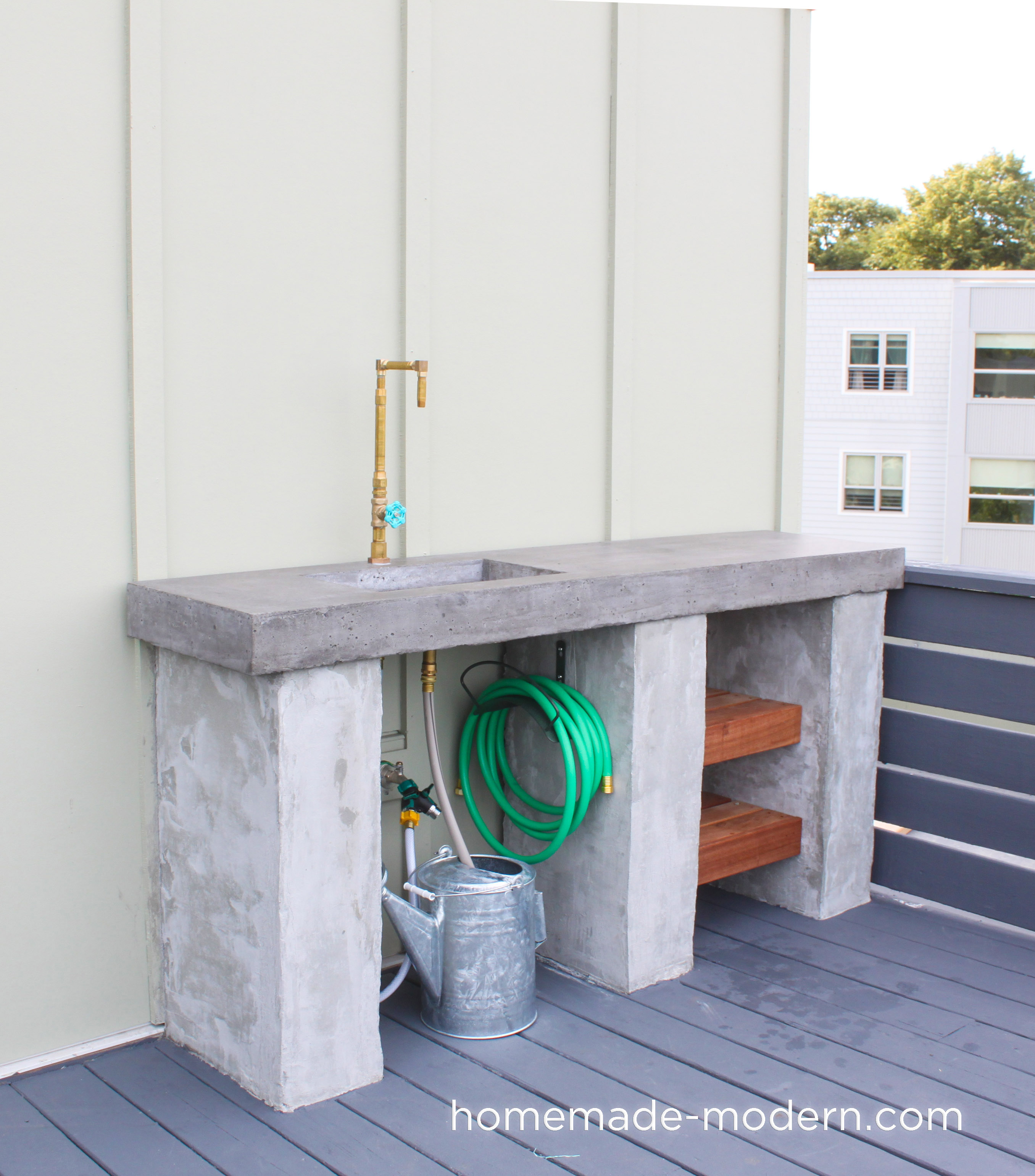HomeMade Modern EP96 DIY Outdoor Kitchen with Concrete ... on Patio Kitchen Diy  id=83233