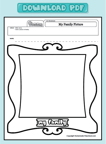 Family Worksheets For Preschoolers Pdf Backup Gambar - 48+ My Family Worksheet For Kindergarten Pdf PNG