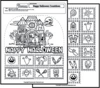 happy halloween worksheets