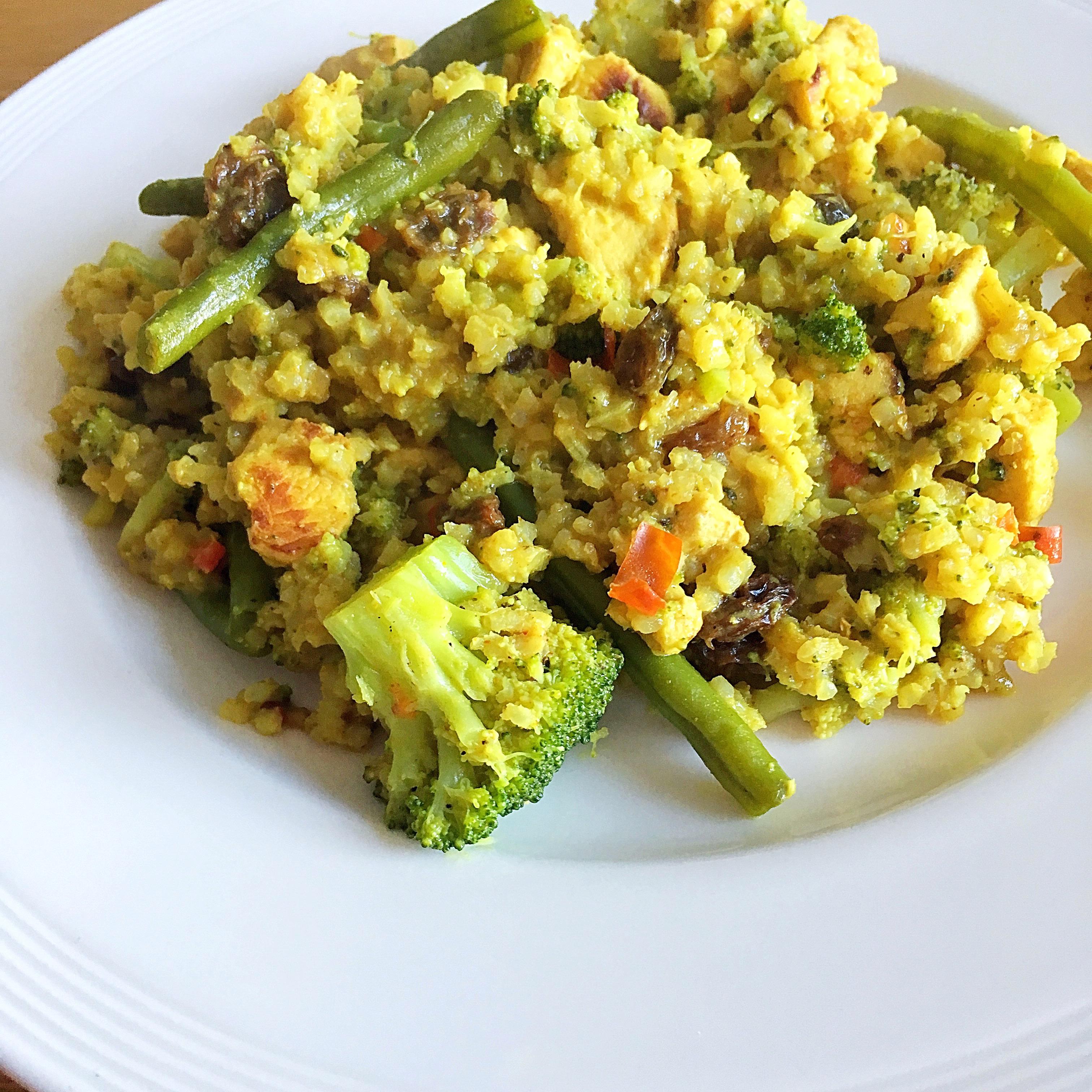 ❤️ Kerrie kip met broccoli & zilvervliesrijst