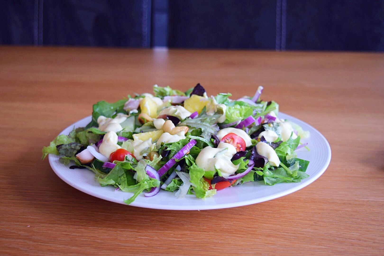 ❤️ Kipkerrie salade met  ananas & cashewnoten