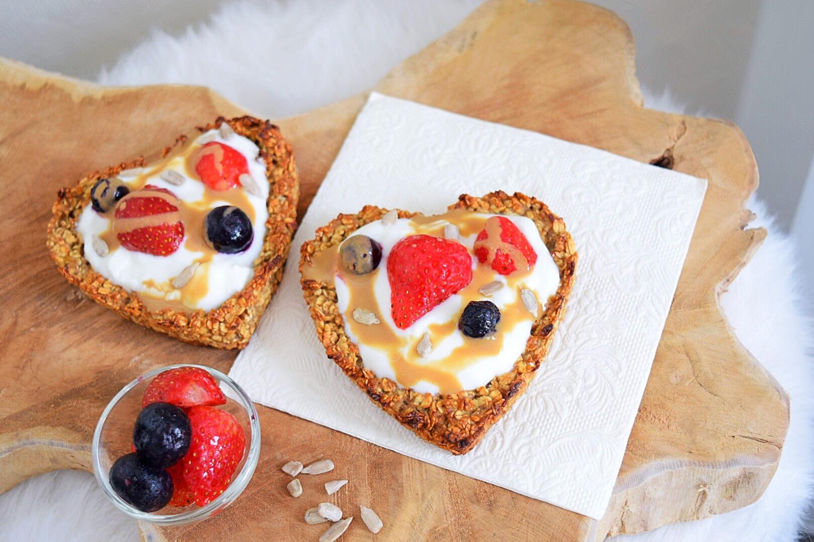 ❤️ Havermout hartjes pizza's voor jouw Valentijn !!