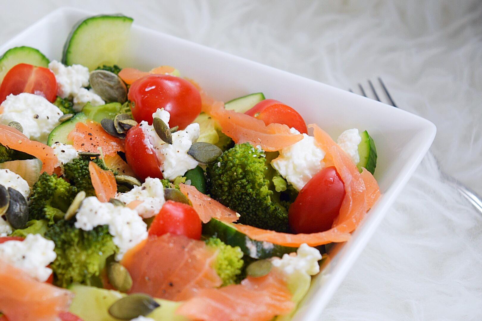❤️ Broccoli zalm lunchsalade
