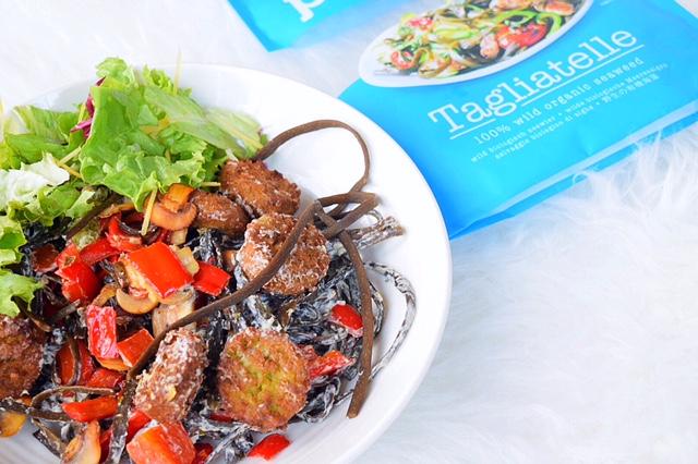 ❤️ Zeewierpasta met falafel in een roomkaas sausje