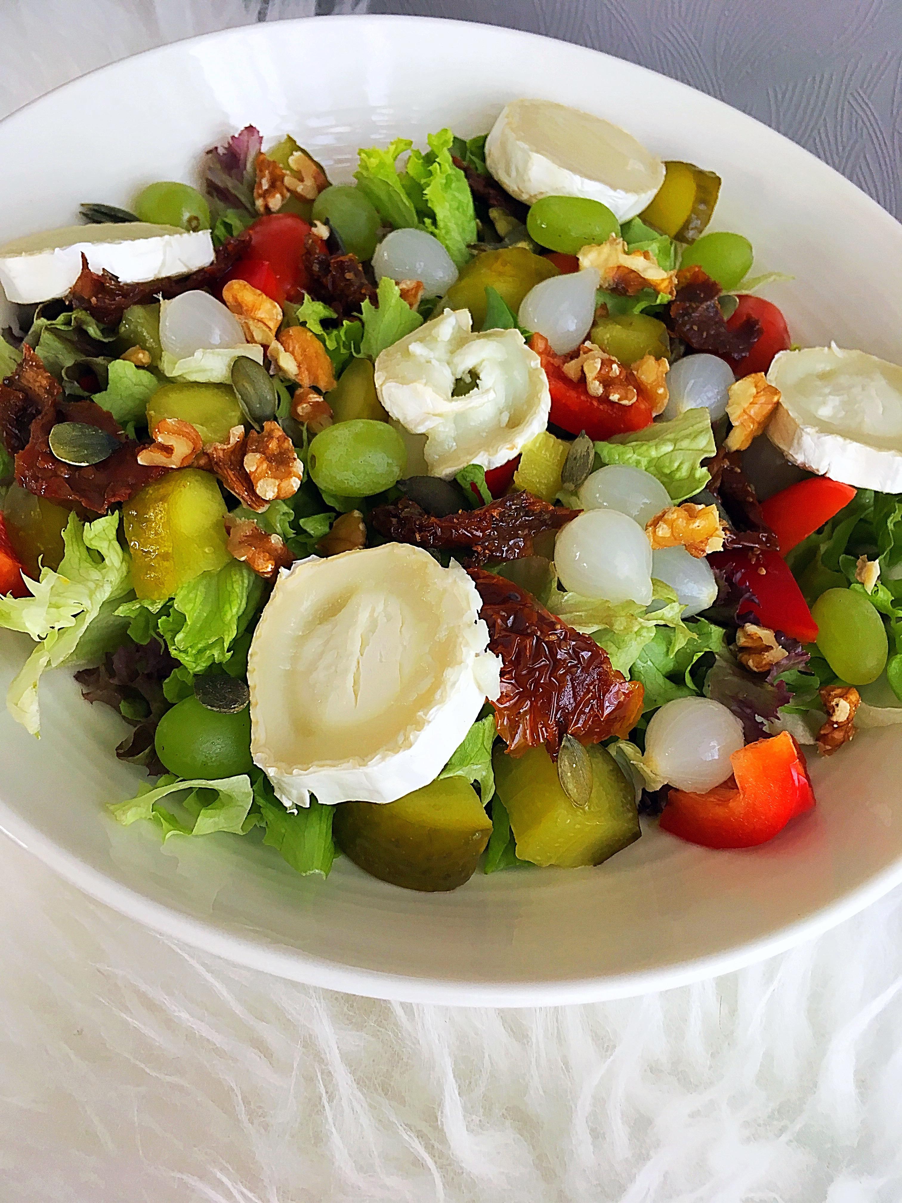 ❤️ Airfryer Woensdag ;; Warme geitenkaas lunch salade