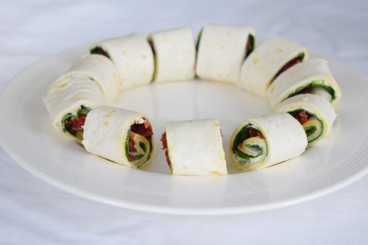 Tortilla rolletjes spinazie