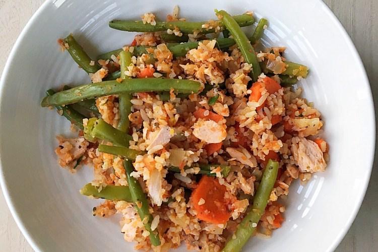 Zalm rijst