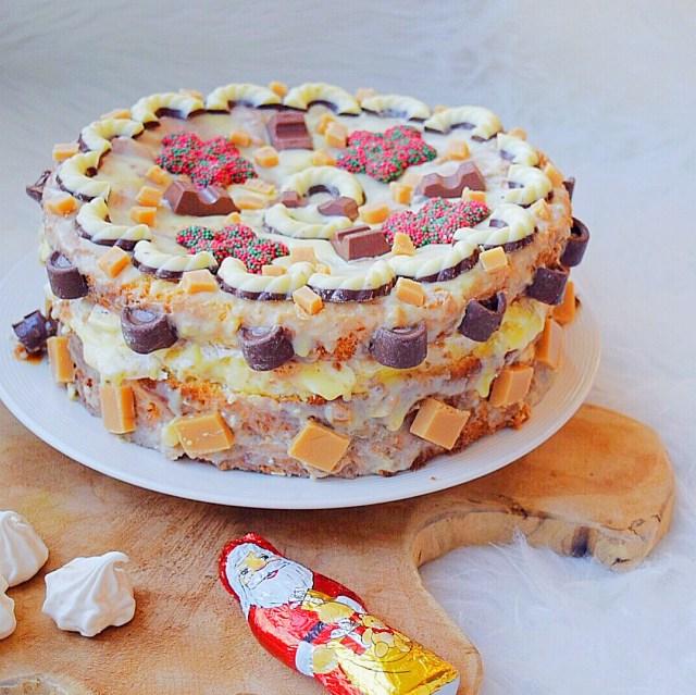 Schuim karamel taart