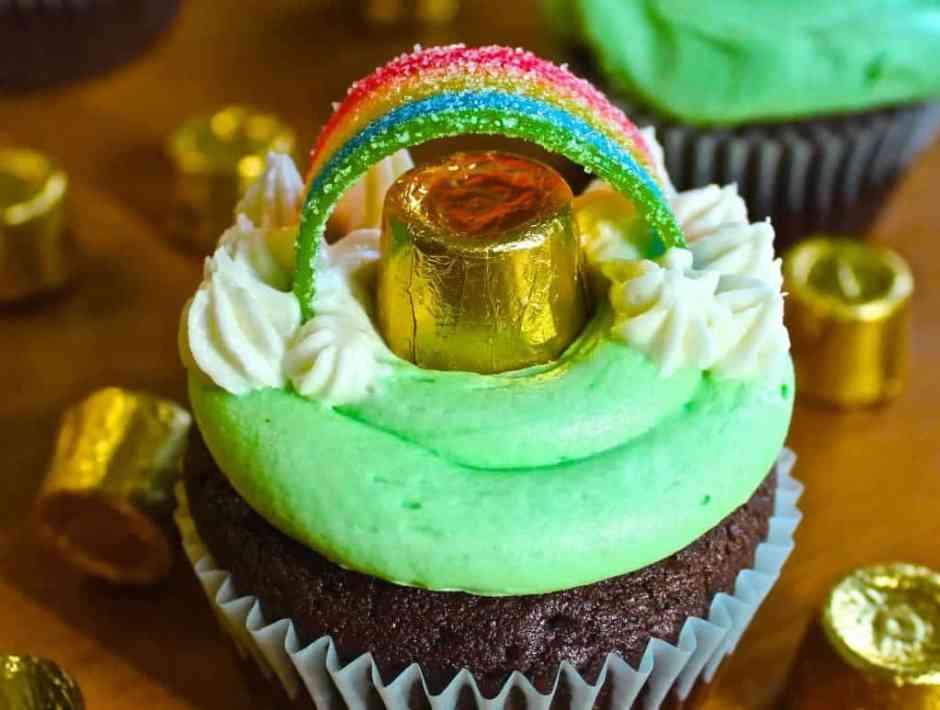 Cupcake del Día de San Patricio