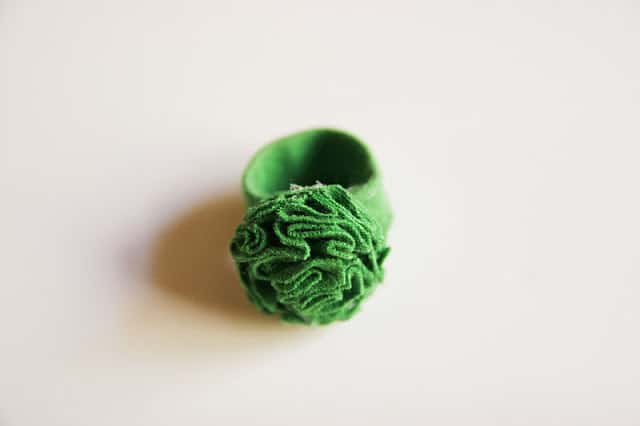 Diy T-shirt Flower Ring. Great way to repurpose an old t-shirt!