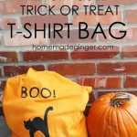 Repurposed Trick or Treat T-Shirt Bag