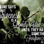 Sunday Quote: Forgiveness