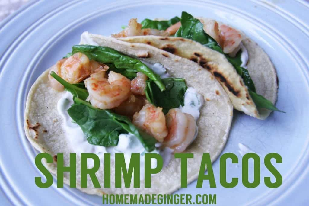 These shrimp tacos with a yogurt sauce are beyond amazing! They are the perfect summer dinner option!