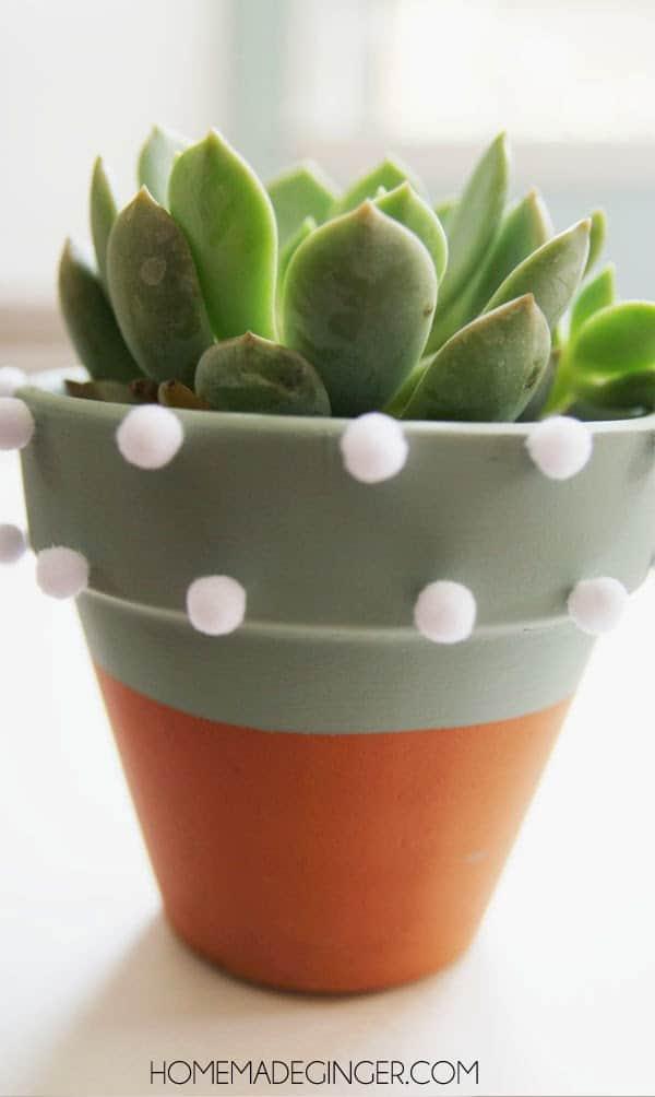 Pom pom planter craft