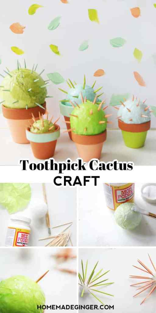 Make a toothpick cactus craft! The cutest and easiest cactus you will ever want in your home!