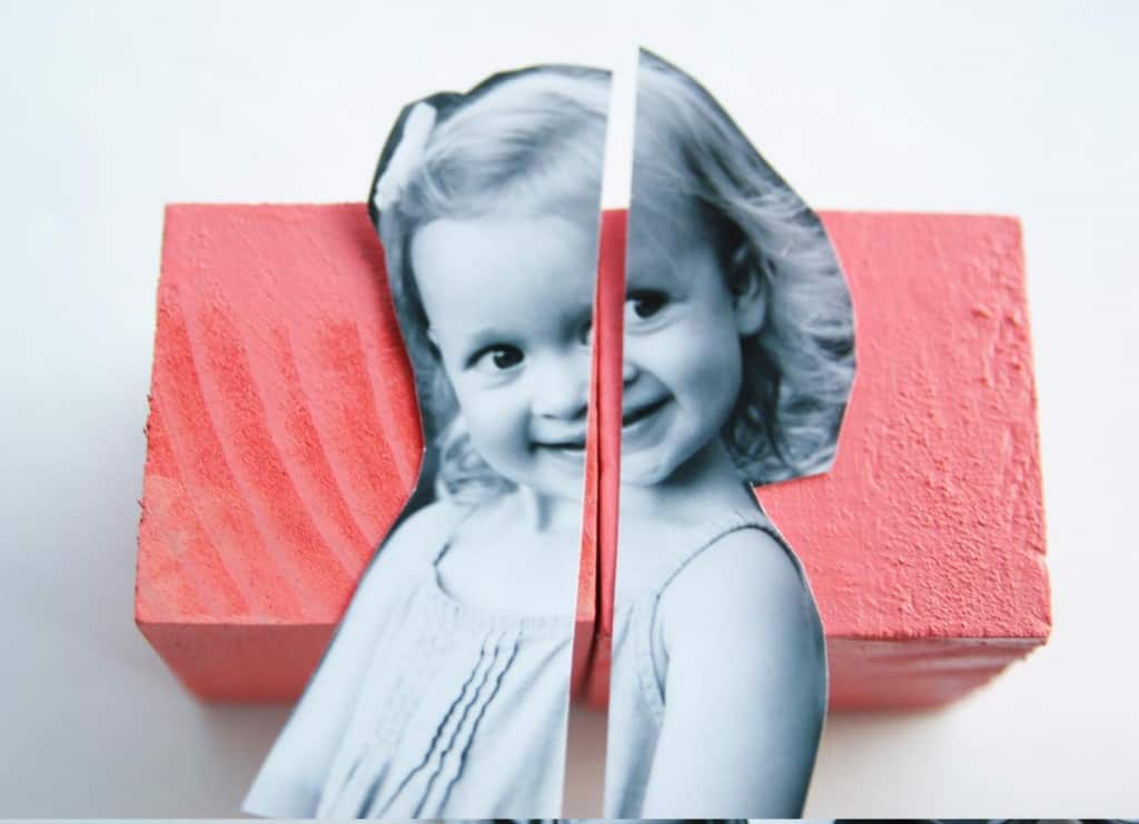Make some modern photo blocks to display in a nursery or give as a gift!