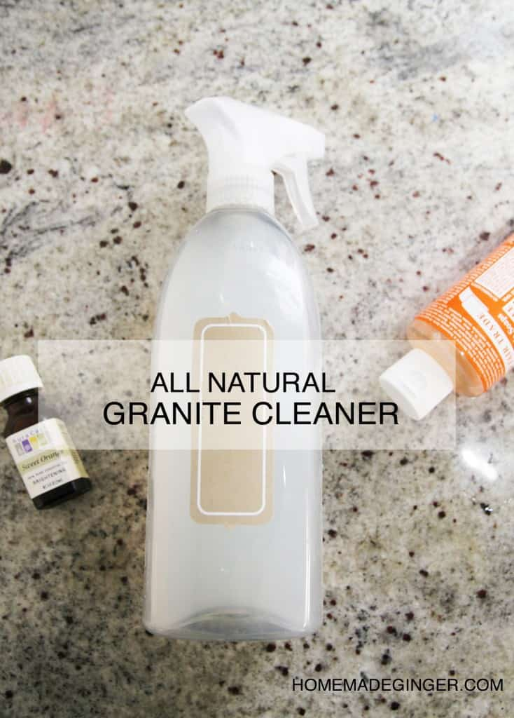 Make your own homemade granite cleaner using just a few ingredients! It's so easy and will save you tons of money!