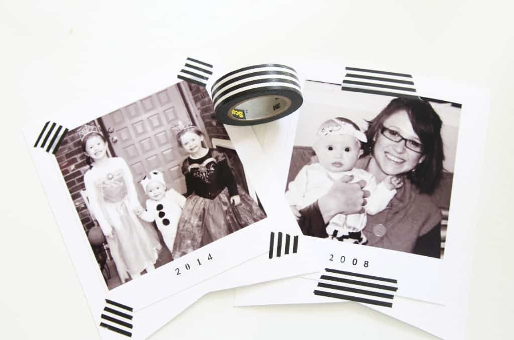 Create an easy way to display old halloween pictures year after year! This is such a fun DIY Halloween Decor project!