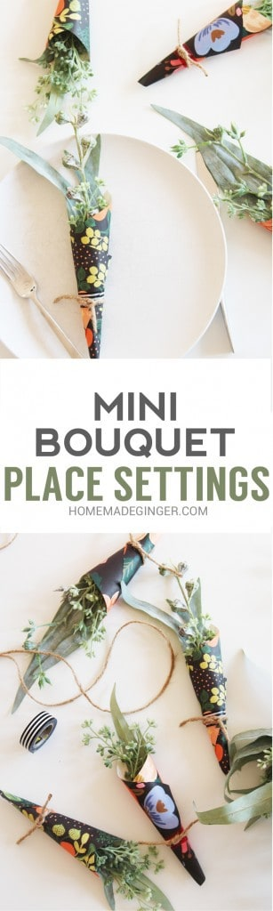 These mini bouquets add such charm to your table for any occasion. What a modern way to add some color into your holiday decor!