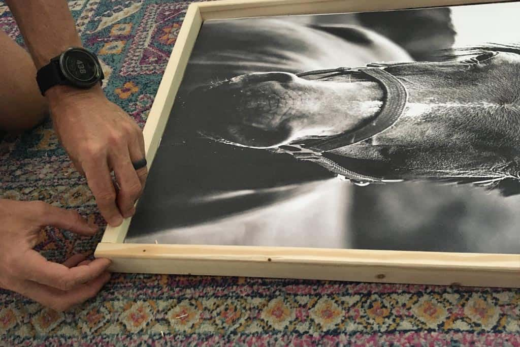 Find out the cheapest way to frame engineering prints. All you need are a few supplies to frame a giant print for about $7 total!