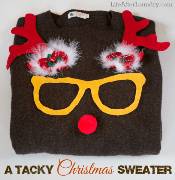 11 Tacky Hilarious Amp Festive Homemade Ugly Christmas Sweaters