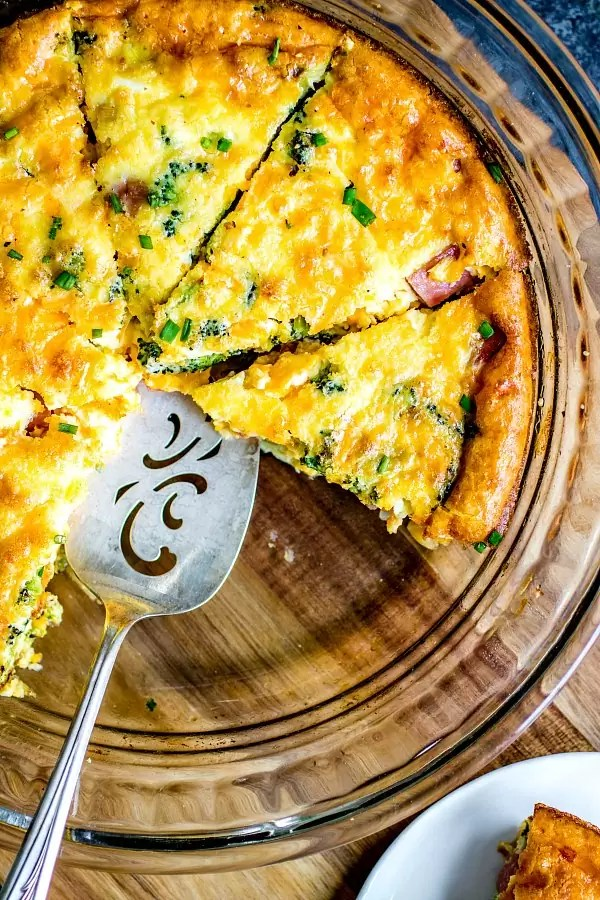 Low Carb Ham and Cheese Crustless Quiche - Home. Made ...