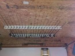homemade ceiling mounted rod holder
