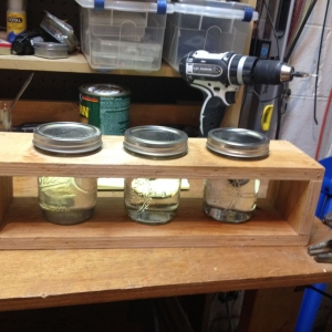 Homemade Paint Thinner Jar Rack