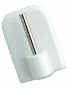4 supports adhesifs plastique blanc